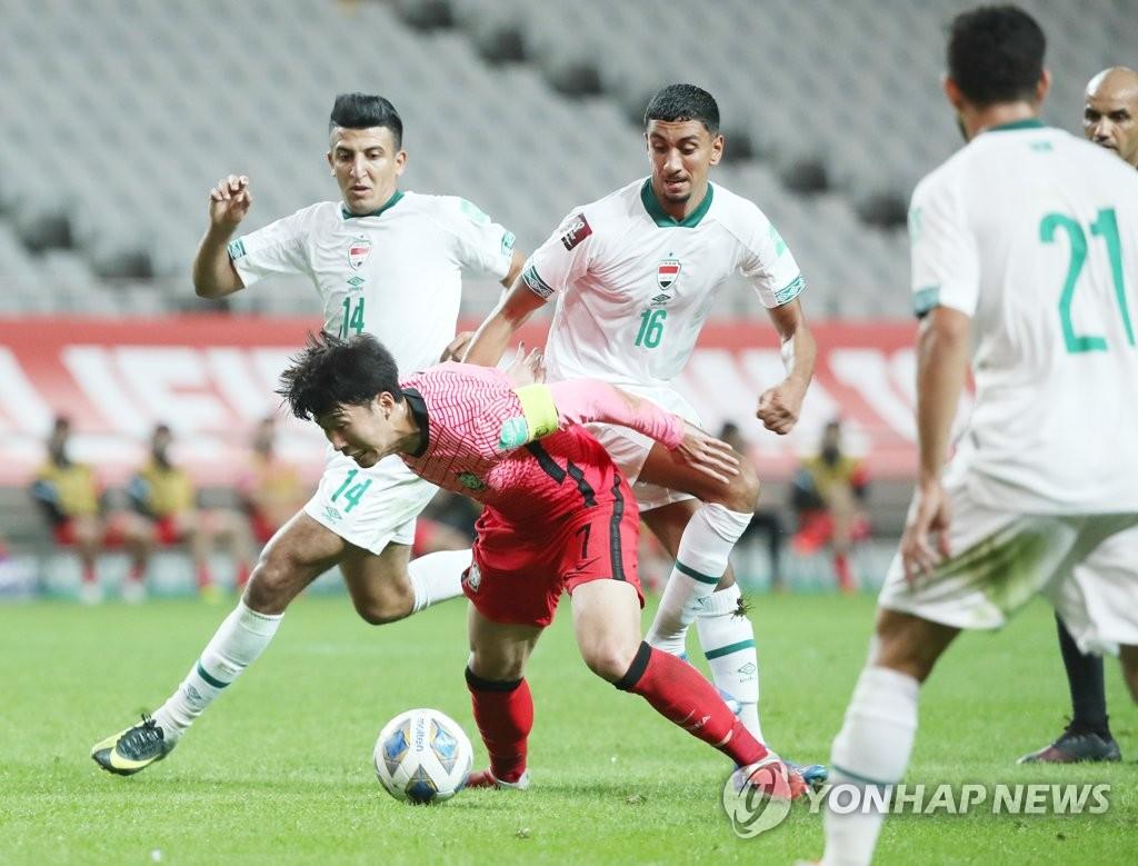 世预赛韩国0比0战平伊拉克