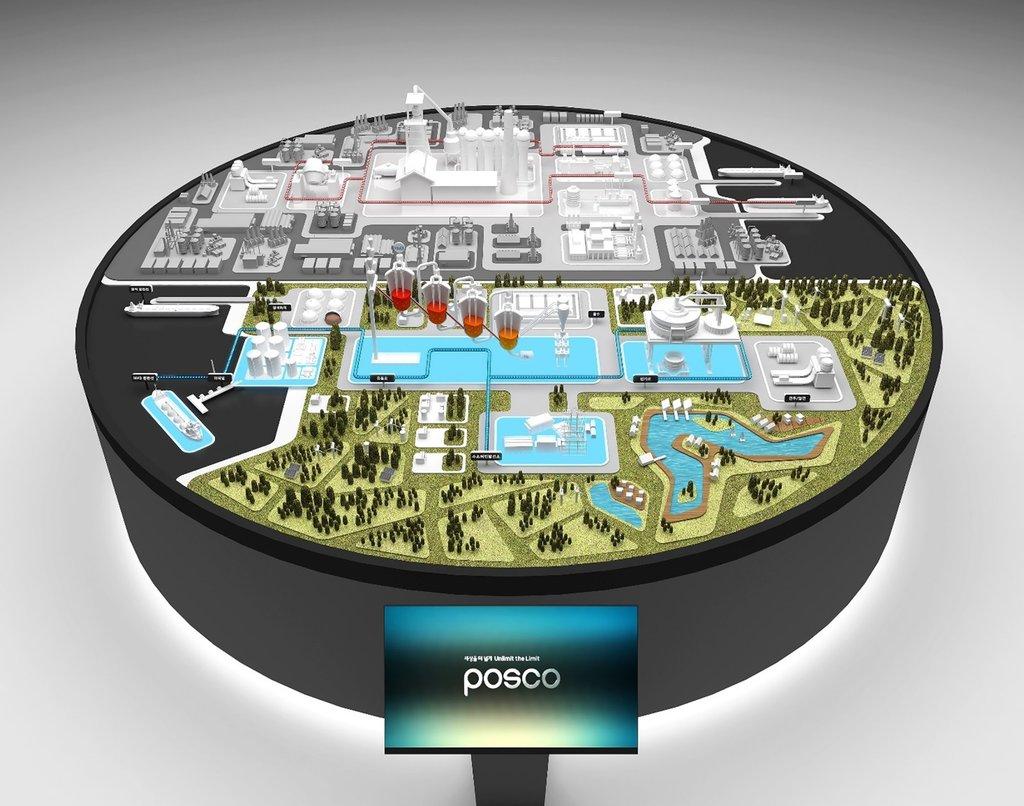 资料图片:POSCO集团氢还原炼铁技术概念图 POSCO集团供图(图片严禁转载复制)
