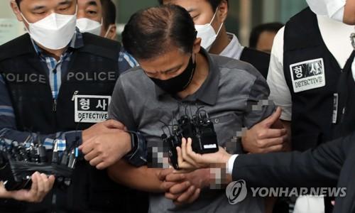 韩破坏脚镣杀人案嫌疑人被送检