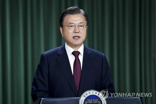 文在寅:韩国首剂新冠疫苗接种率已达70%