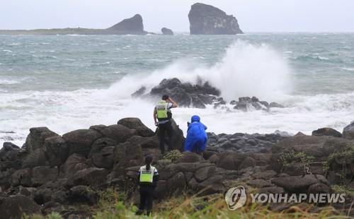 """韩国上调台风预警应对""""灿都""""来袭"""