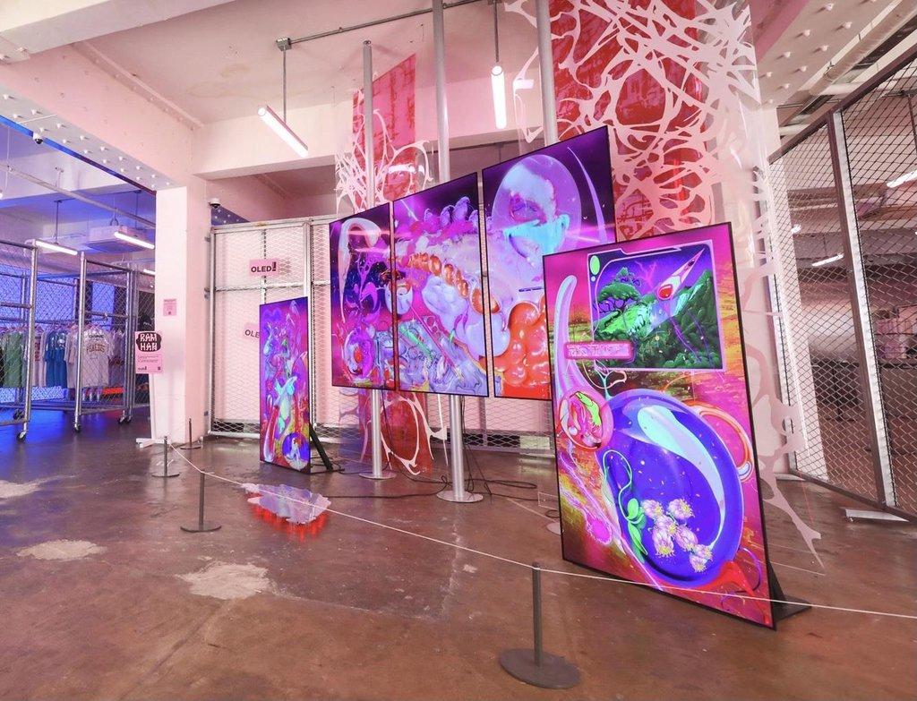 LG Display OLED数字艺术展