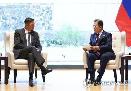 详讯:文在寅与斯洛文尼亚总统举行会谈