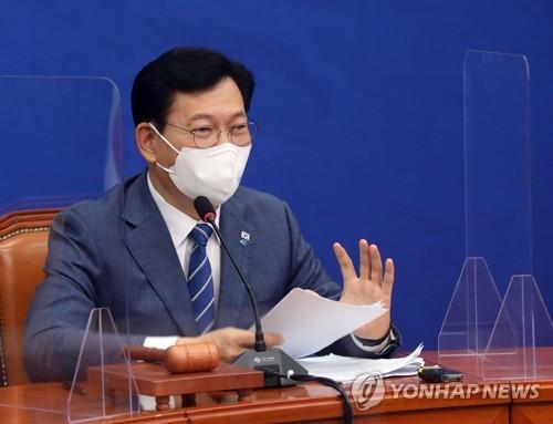 韩执政党党首:依照党章党规敲定李在明为总统候选人