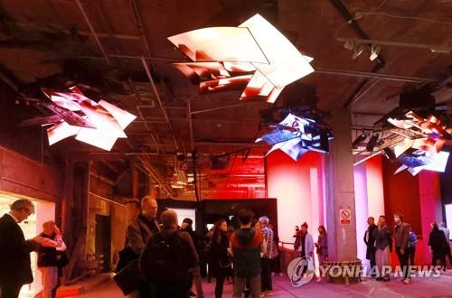 LG电子OLED作品亮相伦敦传媒艺术展