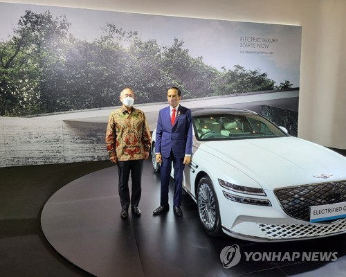 印尼总统和现代汽车郑义宣